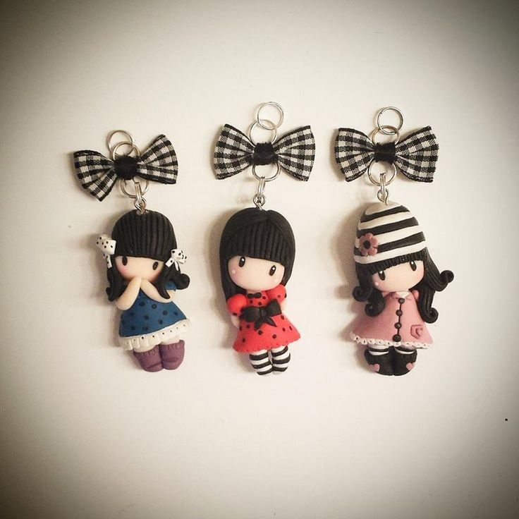 Gorjuss inspired doll pendants by Ruby-creations