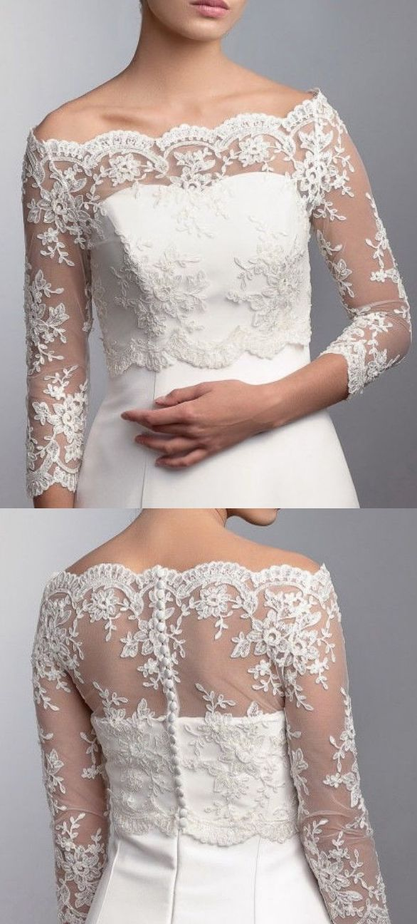 Wedding Bridal Lace Bolero $70 Shrug Jacket. Bride Stole Shawl Cover up. Spring Wedding bridal gown shoulders cover up ideas. Romantic Beach wedding gown inspiration. Delicate embroidered lace bolero. #weddings #bridalwear #bride #bridalbolero #bridalcape #lacebolero #lace #bolero #springweddings #weddingplanning #affiliatelink #ebayfinds