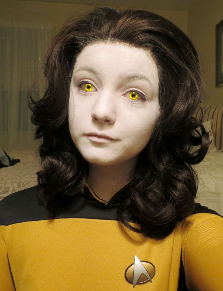 I think I'm Data.... You look like Data's daughter Lal, after academy graduation!