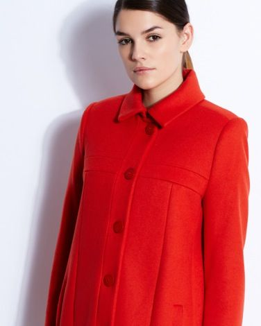 Paul Costelloe Living Studio Chiara Coat with flattering pleat detail and statement buttons