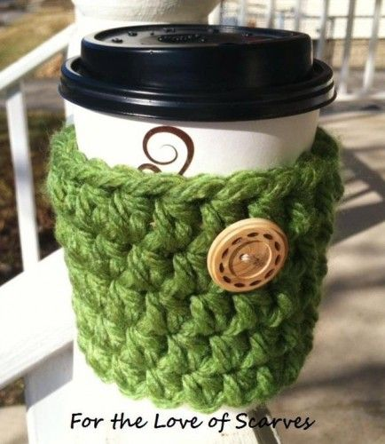 Chunky Crochet Cup Coozie | FTLOS - Crochet on ArtFire