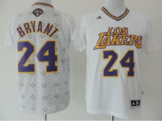 3803036411d ... quality NBA Los Angeles Lakers 24 Kobe Bryant White Latin Nights 2014  Noches Enebea Swingman Jersey ...