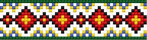 Pattern based on warminsko - mazurskie fashion (folk, polish, border, Warmia, Mazury)
