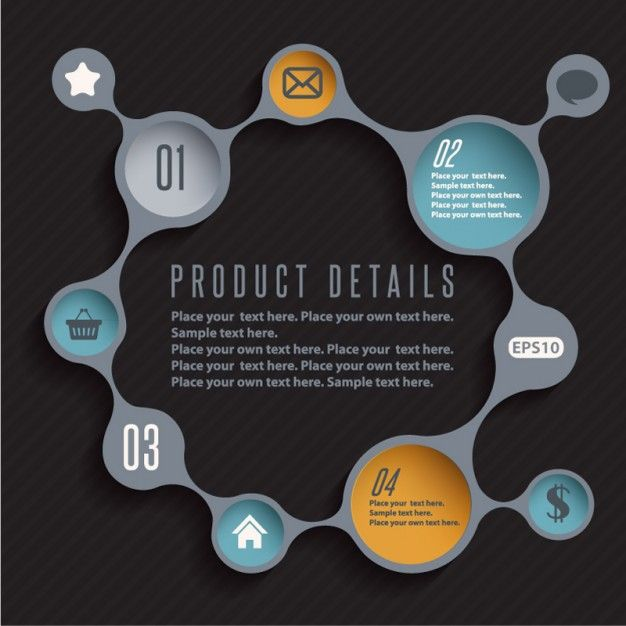 Infographic design product template vector