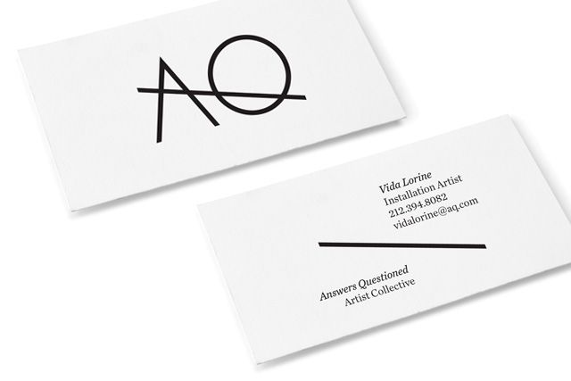 A nice minimal business card design.
