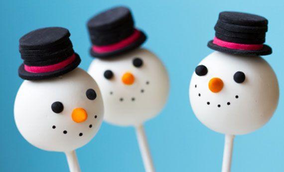 Snowmen popcakes