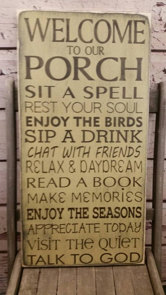 Porch Rules Sign Front Porch Rules Back Porch Rules Shabby
