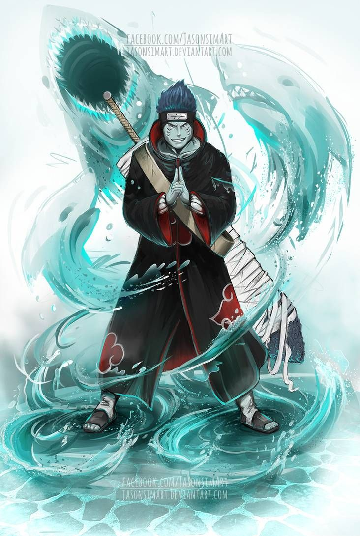 Kisame the tailless tailed beast by SimArtWorks on