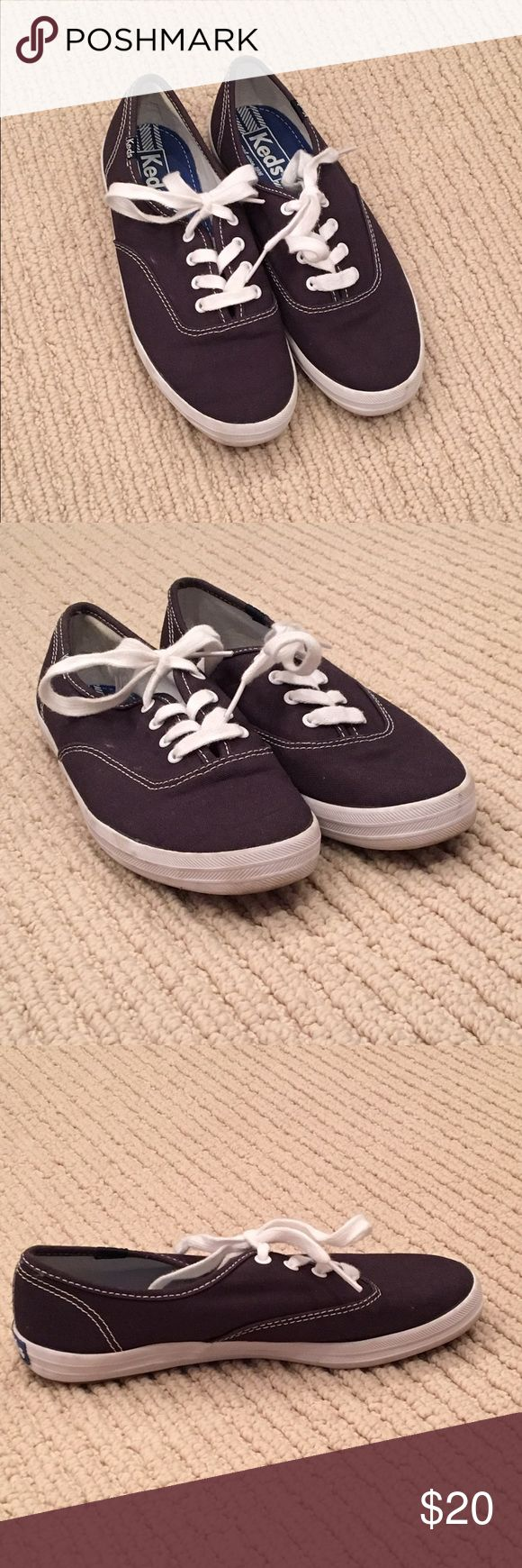 Navy blue Keds Navy blue Keds size 5.5, only worn once. Willing to trade for something reasonable. Keds Shoes Sneakers
