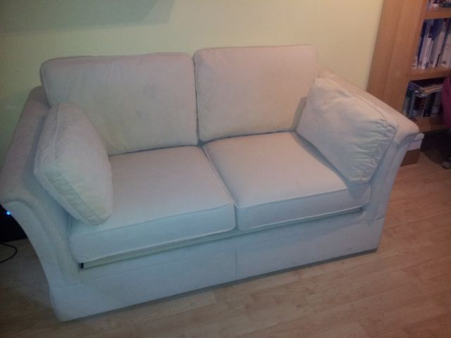 Cream Sofa Bed by Marks and Spencer on Gumtree. Marks and Spencer sofa bed. Cream colour. Double size. With removable and washable covers. Folds