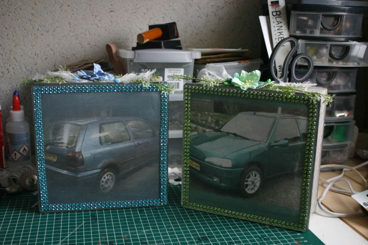 cars also look great on a glassblock :)