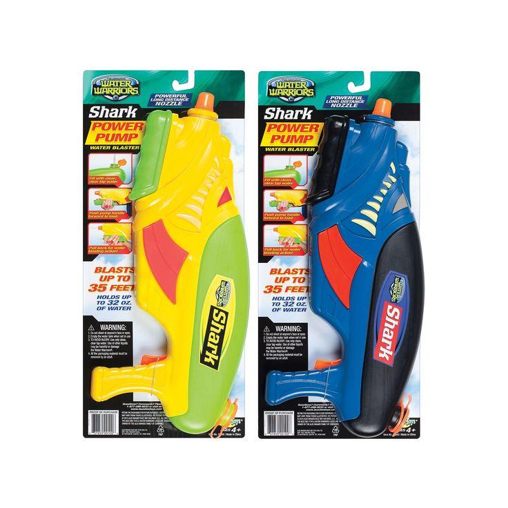 Buzz Bee Toys Water Warriors Shark Water Blaster, Multicolor