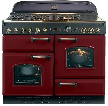 rangemaster classic 110 natural gas range cooker cranberry