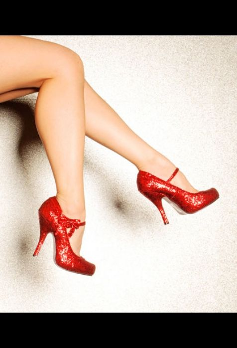Everyone should have at least one pair of red shoes.  Why not get these and feel like a rock star?