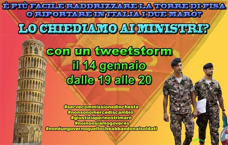#tweetstorm #marò #italianmarines