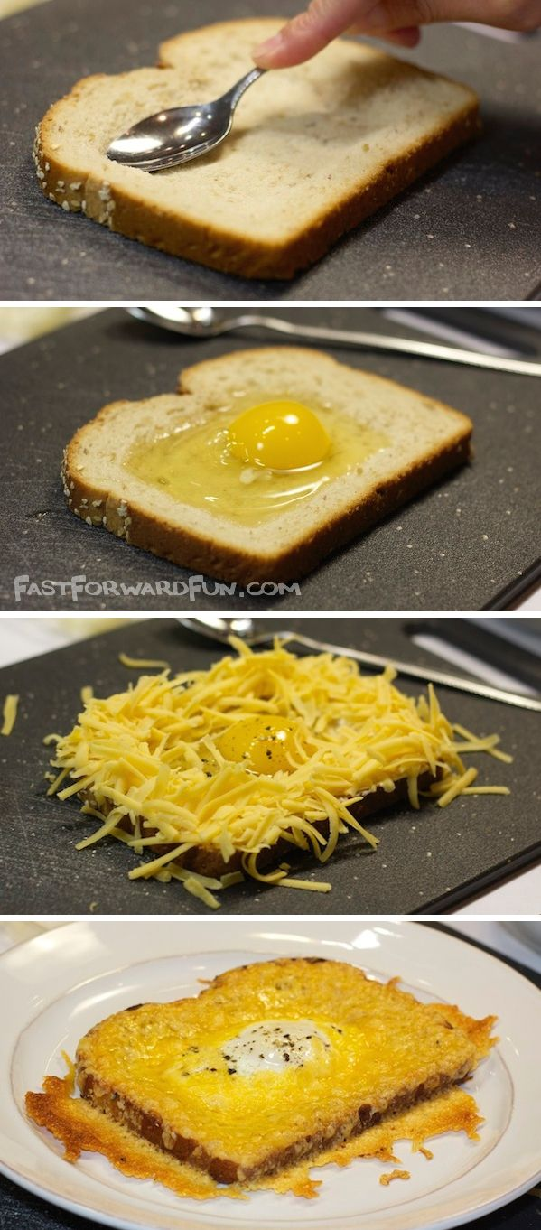 Cheesy Egg Toast (with a fun video tutorial) -- the easiest and most delish breakfast you will ever have!