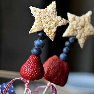 Rice Krispy Sparklers - Perfect for the 4th of July!