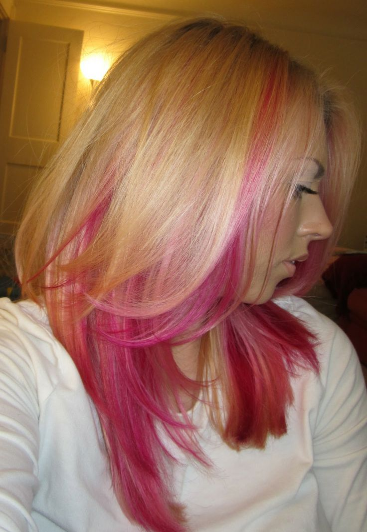 I am going to add pink to my blonde hair! ♥