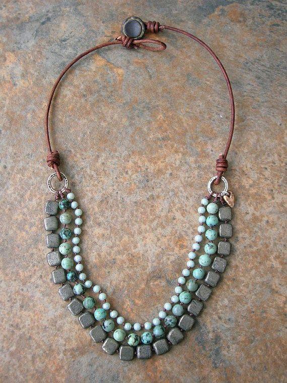 Boho statement necklace RESERVED for JEN African by 3DivasStudio
