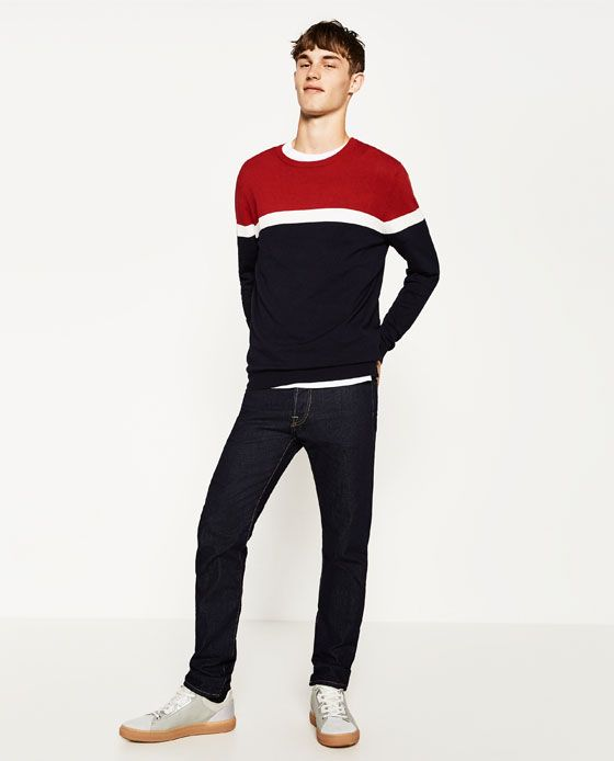 ZARA - HOMME - PULL COLOR BLOCK