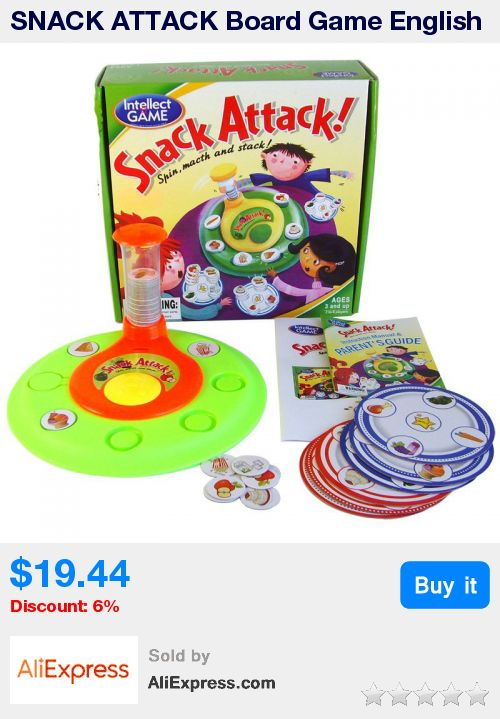 SNACK ATTACK Board Game English Version  Board Games Funny Puzzle Game  For Children With Free Shipping * Pub Date: 00:38 Jun 23 2017