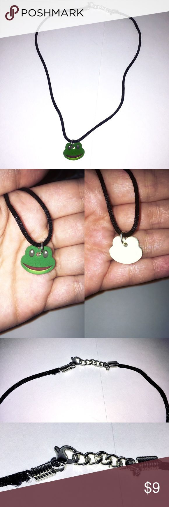 Handmade frog emoji choker Handmade frog emoji choker. Worn only once! Super cute! As always, accepting reasonable offers and bundles of multiple items! 🐸 🐸 🐸 Jewelry Necklaces