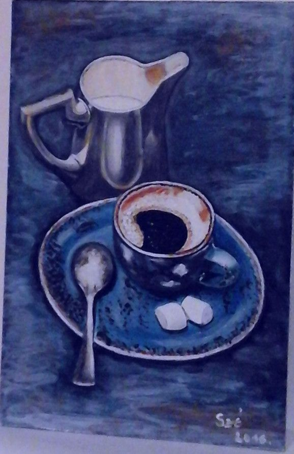 Created by: Kovácsné Sz. Éva - coffee - acrylic, 20x30 cm wallboard.
