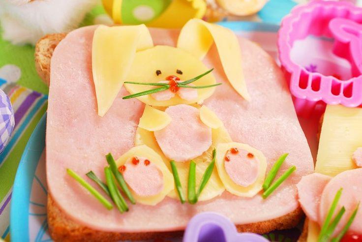 recette sandwich facile et originale - tartine beurrée ornée de jambon et de…
