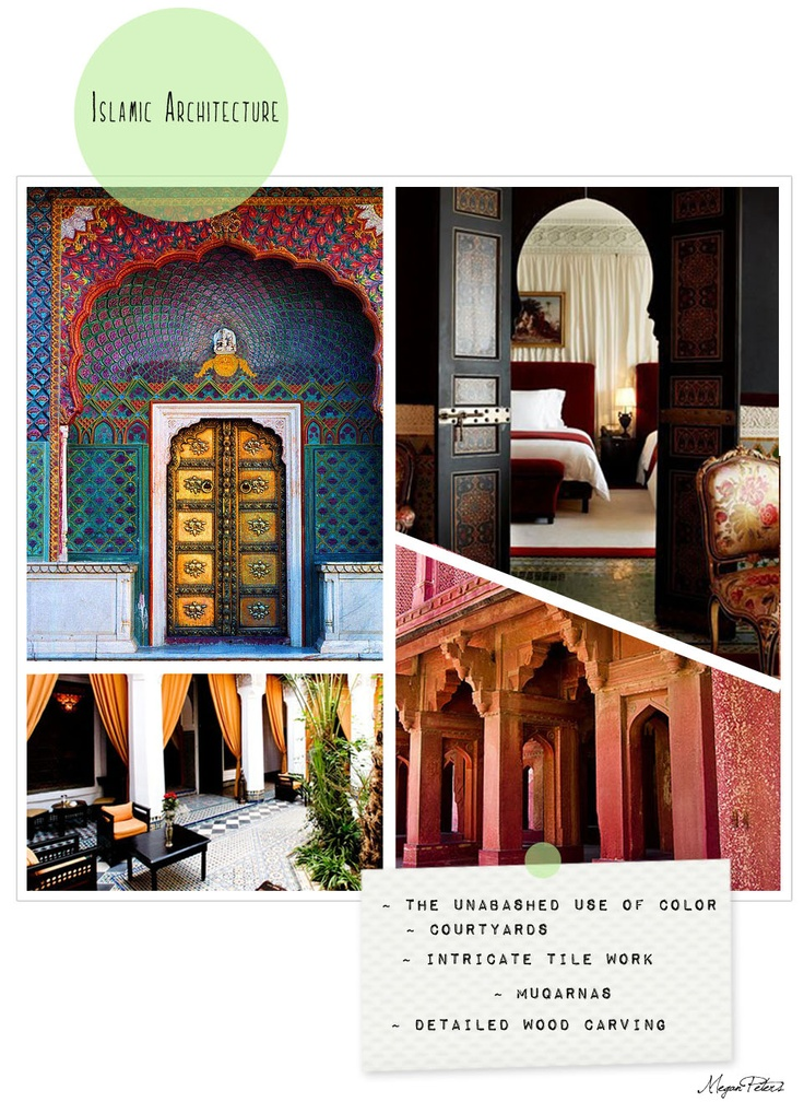 Graphic Layout: Layout Inspiration, Graphics Layout, Architecture Hom, Layout Design, Islam Architecture, Moorish Arches, Rich Colors, House Somewhere, Individual Layout Islam