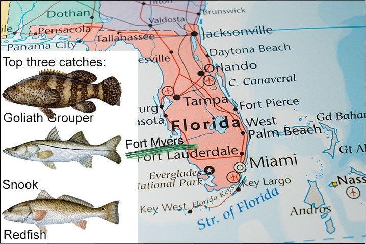 Top 10 Florida Fishing Spots An Angler S Guide Fishingbooker Blog Florida Orlando Beach Map Of Florida