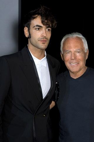 Marco Mengoni e Giorgio Armani