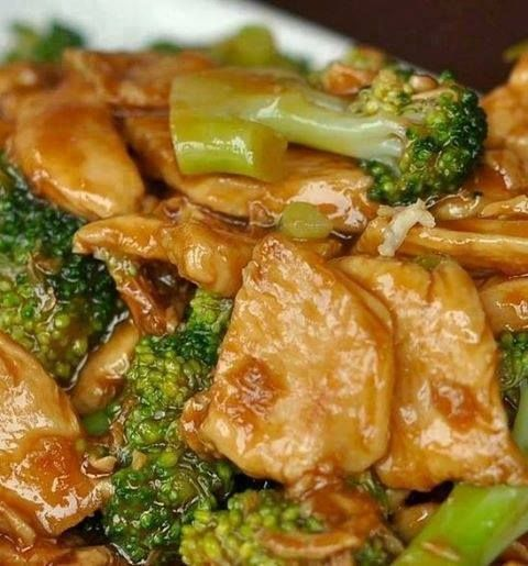 One of my favorites!!! Chicken and Broccoli Stirfry!!  Ingredients 1 pound boneless skinless chicken breast, cut into 1-inch pieces 2 garlic cloves, finely chopped 2 teaspoons finely chopped ginger 1 cup chicken broth 3 tablespoons soy sauce 2 teaspoons sugar 2 cups broccoli 2 teaspoons cornstarch  Directions Spray 12-inch nonstick skillet with cooking spray; heat over medium-high heat. Add chicken, garlic and ginger. Fry 2 to 3 minutes or until chicken is brown. (or use a seasoned Wok)  Add…