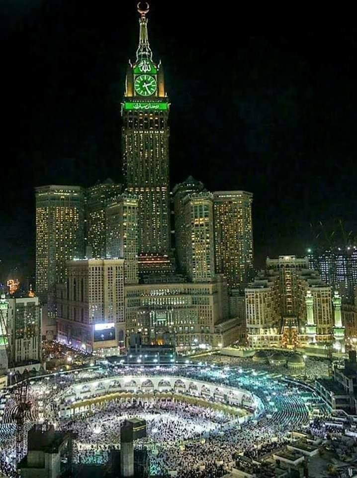 December 2018 Night View Of The Masjid Al Haram Makkah Masjid Al Haram Makkah Masjid