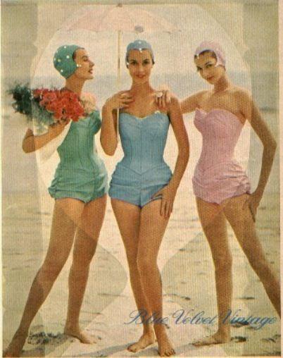 Moda De Praia 1956 Ateliemadameviolet Blogspot Com Amo