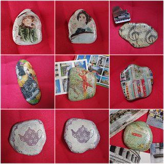 Decoupage stones