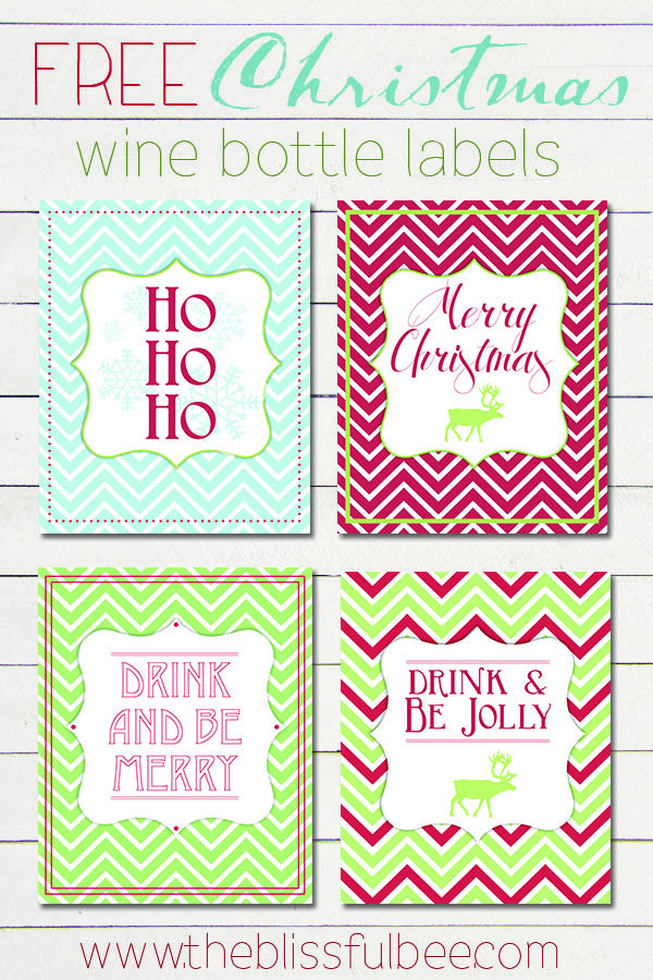 FREE Wine Bottle Printables from The Blissful Bee Blog