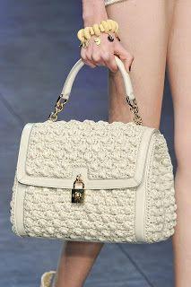 Aprendiz de Crocheteiras: Bolsas de Crochê no Universo Fashion – Moda & Crochê