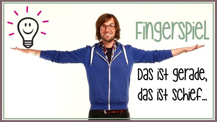 Fingerspiele: Das ist gerade, das ist schief...