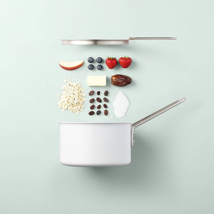 Minimalist Visual Recipes with Ingredients  Artist and photographer Mikkel Jul Hvilshøj stages, in a minimalist way, kitchen recipes and utensils. The originality of his work is in the fact that he stages the objects with ingredients that is could contain. The final result gives artistic simple and effective compositions.