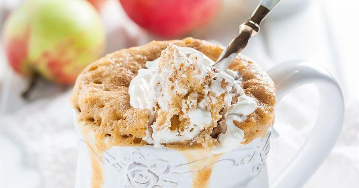 Apple and cinnamon mug cake   OverSixty