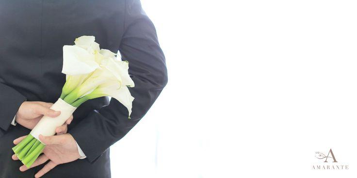 Calla Lily wedding bouquet by Amarante Flower Boutique