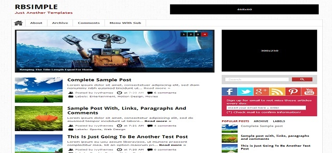 RBSimple Blogger Template