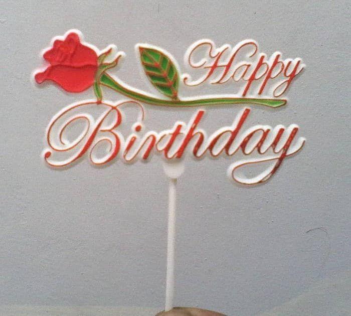 Gambar Bunga Mawar Tulisan Jual Hiasan Kue Ulang Tahun Tulisan Happy Birtday Bunga Mawar Tengah Kab Kendal Hikmahpartys Gambar Bunga Gambar Menggambar Bunga