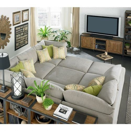there couldn't be a more perfect family couch.  Love this idea for the basement.  Good movie watching spot.: Movie Room, Idea, Tv Room, Dream House, Livingroom, Living Room, Comfy Couch, Movie Night, Family Room