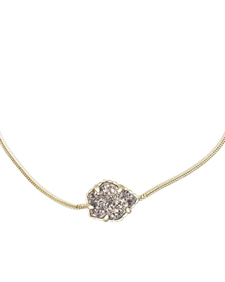 I want this so much! Mara Gold Pendant Necklace in Platinum Drusy - Kendra Scott Jewelry