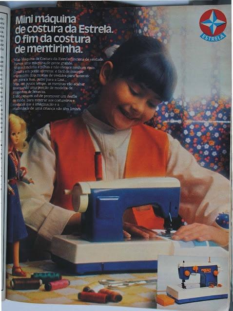 propaganda na revista Claudia de 1978 da maquina de costura da Boneca Susi