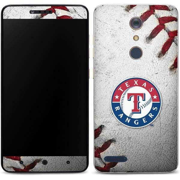 Representing the Texas Rangers never looked so good. For durable ZTE ZMAX Pro without the bulk of a case look no further than the MLB Texas Rangers Game Ball Phone Skin. The Texas Rangers Game Ball Skin is printed in bold, vibrant color and is carefully designed to perfectly fit your ZMAX Pro. Step up your Texas Rangers team pride with the Texas Rangers Game Ball ZMAX Pro Skin!