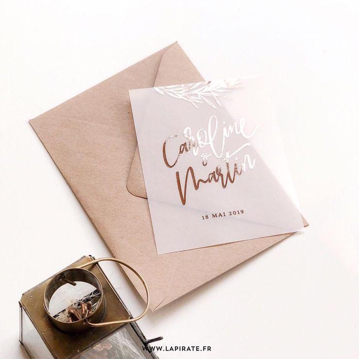 Faire-part mariage calque. Un faire-part original, imprimé sur papier calque et… – Faire-Part Mariage Personnalisé