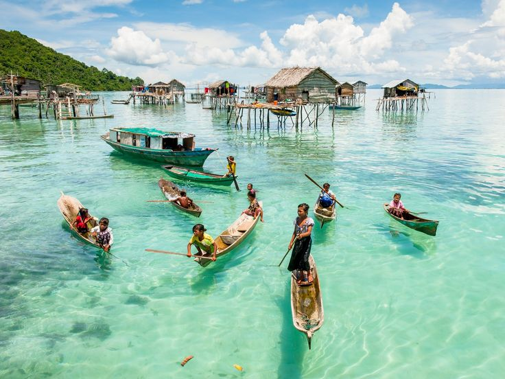 "A jumping off point for diving trips to surrounding islands, the beautiful town of Semporna offers a nice glimpse of local life. Many people here live in ""water villages,"" large groups of houses built on stilts that can be viewed by boat."