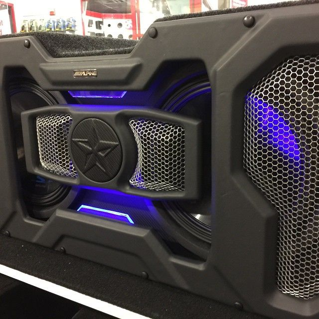 Display box done. Ready for subs alpine car audio fabrication custom sub enclosure 3d grills walled off leds
